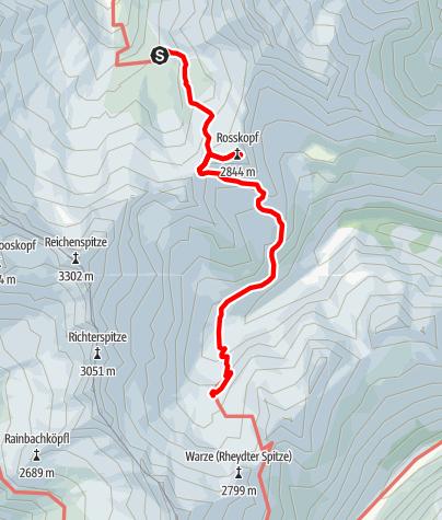 Karte / Zittauer-Richterhütte mit Rosskopfbesteigung