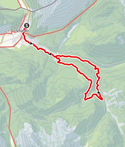 Karte / Gleirschklamm und Hochwaldweg Runde