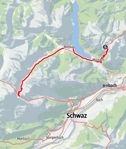 Karte / 01 Nordalpenweg, E34: Erfurter Hütte - Lamsenjochhütte