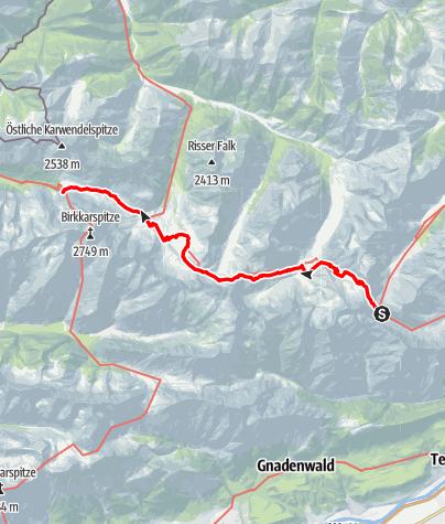 Karte / 01 Nordalpenweg, E35: Lamsenjochhütte - Karwendelhaus