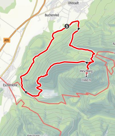 Map / Hirschberg und Osterfeuerkopf