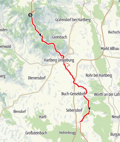 Karte / 907 950 Weitwanderweg