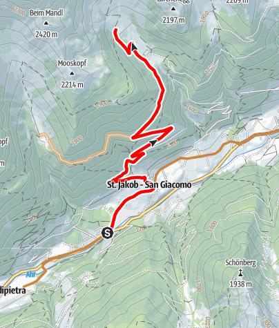 Karte / Mountainbiketour zur Hollenzalm