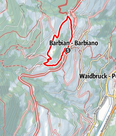 Karte / Oberdorf Rundweg in Barbian