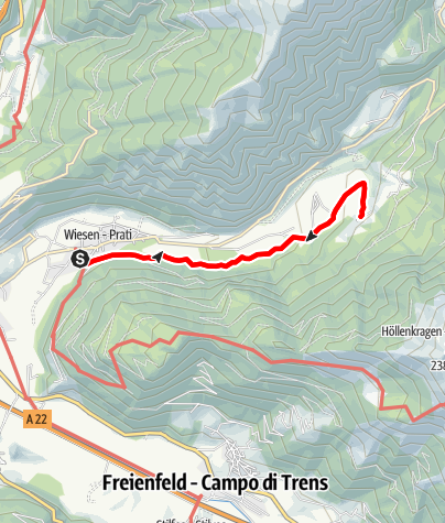 Karte / Von Wiesen nach Tulfer