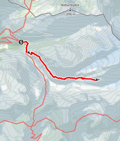 Karte / Zur Hochfeilerhütte