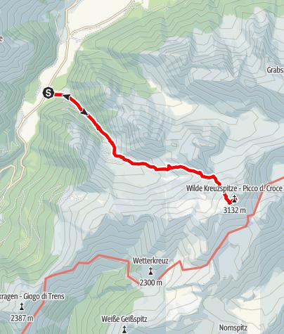 Karte / Von Pfitsch zur Wilden Kreuzspitze
