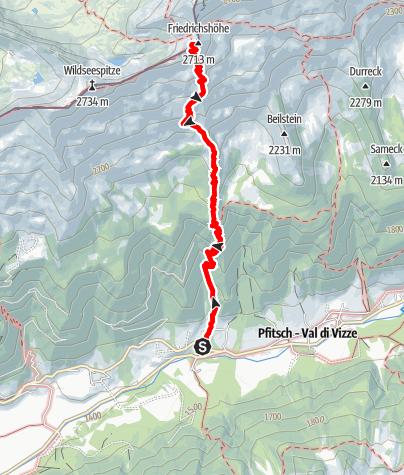 Karte / Von Platz zur Europahütte