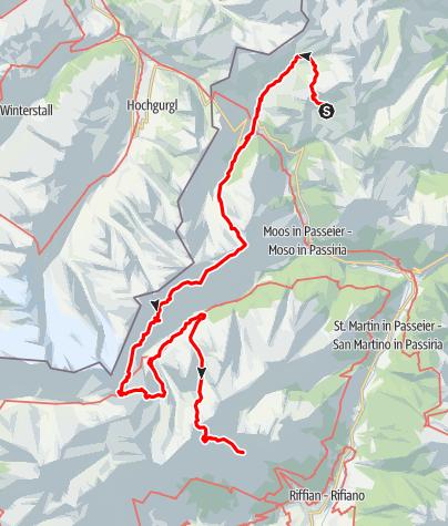 Karte / Tiroler Höhenweg im Passeiertal