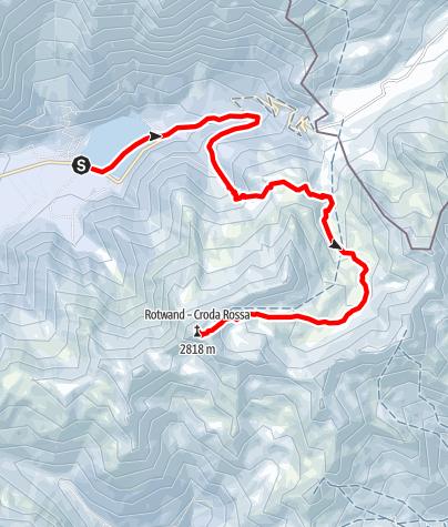 Karte / Skitour zur Rotwand