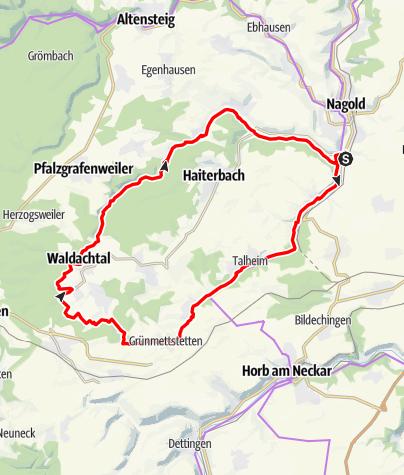 Karte / Isenhausen -Steinachtal-Waldachtal geplant