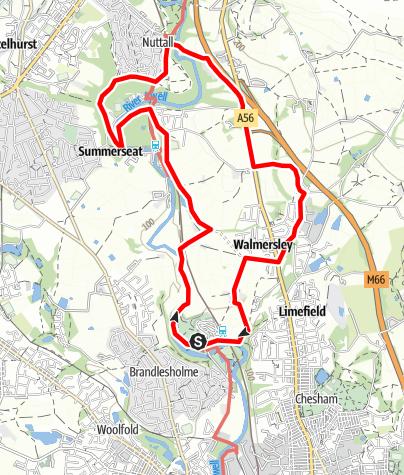 Karte / Burrs to Ramsbottom