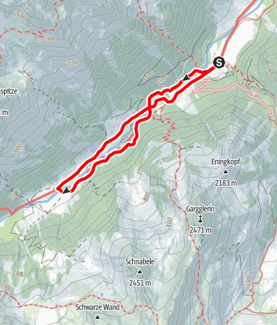 Map / Wanderung zur Laponesalm (1.472m)
