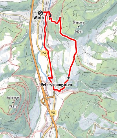 Karte / Gretel Weg (Warth)