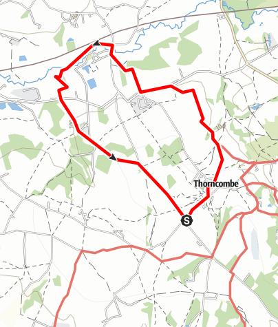 Karte / Thorncombe - Forde Abbey - Thorncombe