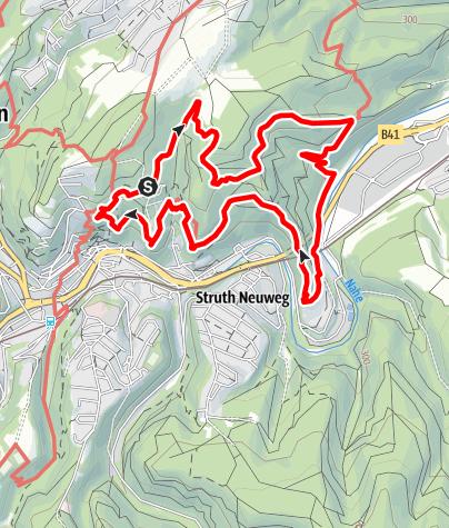 Karte / Traumschleife Nahe-Felsen-Weg