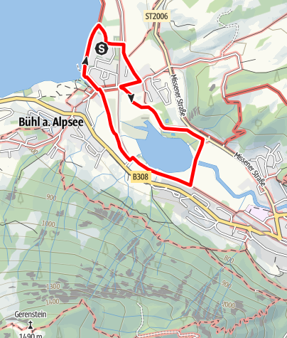 Karte / Rund um den Kleinen Alpsee