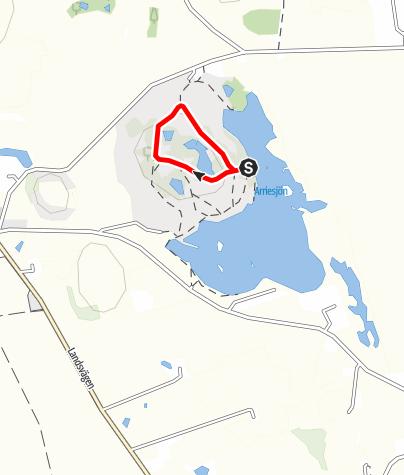 Karte / Arriesjö Tillgänglig stig/accessible trail