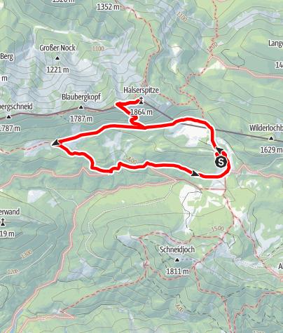 Karte / Halserspitze von Gufferthütte