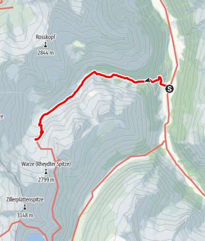 Karte / Richterhütte vom Krimmler Tauernhaus aus