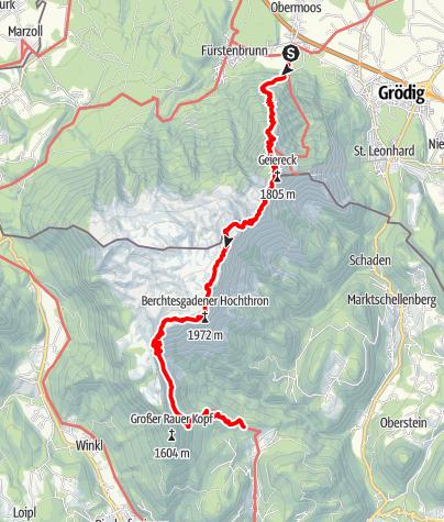 Karte / Wandern am Unterberg
