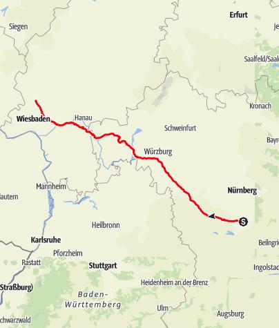 Karte / Roth - Bad Camberg  -  One-Day-Trip