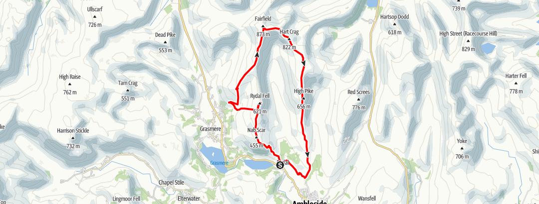 Karte / Route 3 - Walking the Wainwrights