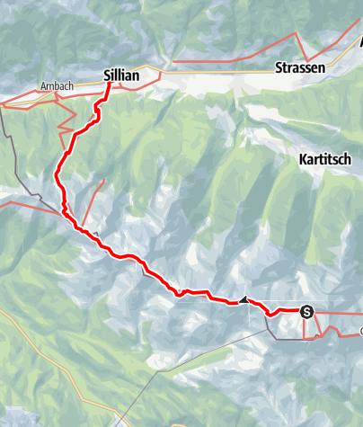 Map / 03 Südalpenweg, E25: Obstanser See Hütte - Sillian