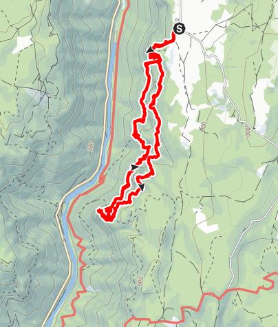 Karte / Sentier de Cinglegros 6 juli 2020