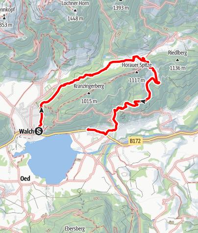 Karte / Von Walchsee zur Ottenalm und über den Sattel zurück