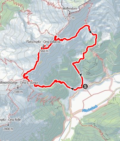 Karte / Von Kematen zur Flatschspitze