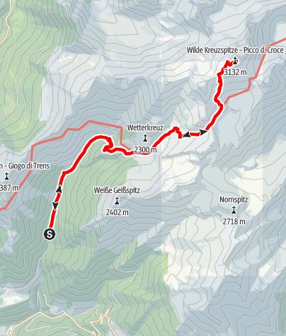 Karte / Von Niederflans zur Wilden Kreuzspitze