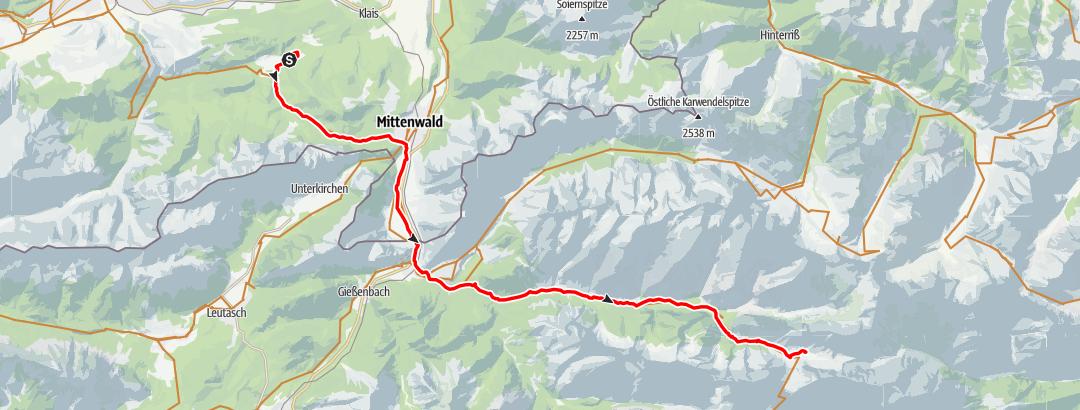Karte / Hallerangeralm