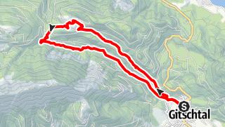 Karte / Waisacheralm über Plattenweg und Gösseringgraben