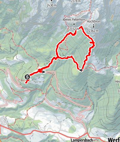 Karte / Grießschartenrunde Werfener Hütte am 24. Juli 2020