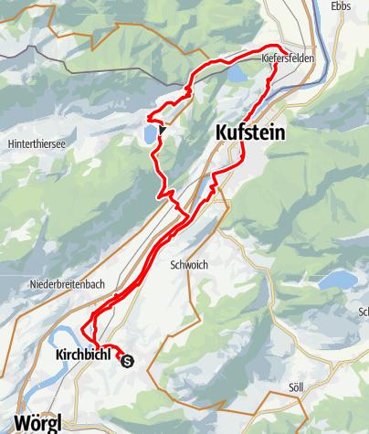 Karte / Bad Häring - Thiersee Runde