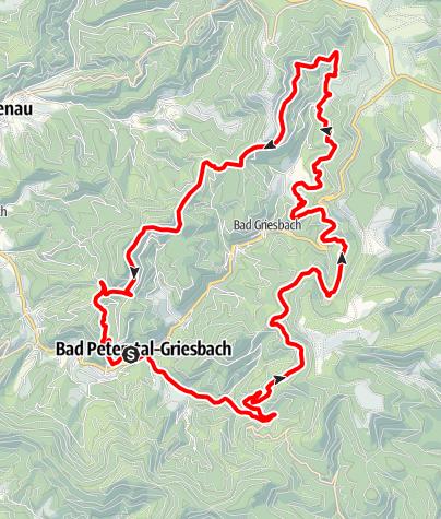 Karte / MTB Bäder Tour