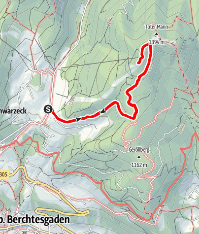 Karte / Wanderung zur Berggaststätte Hirschkaser