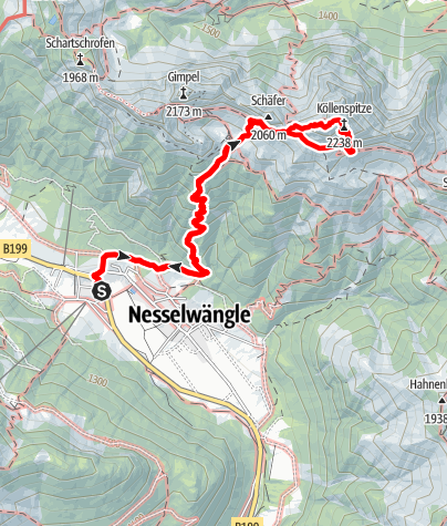 Karte / Köllnspitze