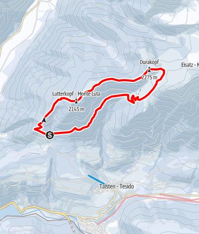 Karte / Schneeschuhwanderung: Lutterkopf - Durakopf