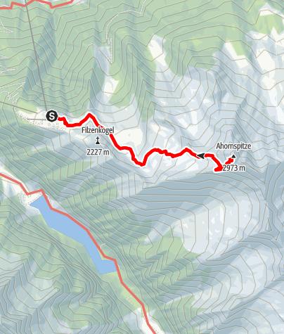Karte / Ahornspitze
