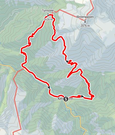 Karte / Hochgang Kaiserbrunn Schneeberg11.4.2016