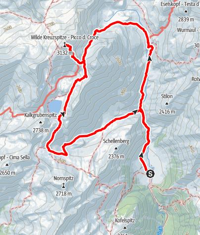 Karte / Wilde Kreuzspitze