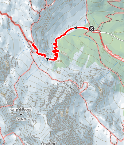 Map / Rifugio Berti da Rif. Lunelli (Valgrande)