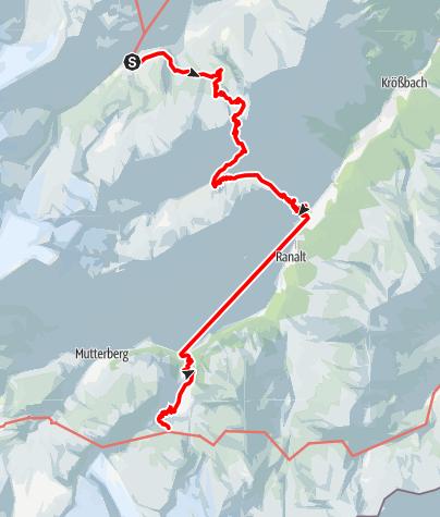 Karte / Alpenüberquerung: Garmisch - Brixen / Etappe 7: Franz-Senn-Hütte - Sulzenauhütte