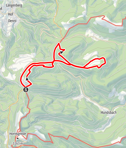 Karte / 09.08.2020: Gipfeltour Nordschwarzwald Hochkopf - Hoher Ochsenkopf - Mehliskopf