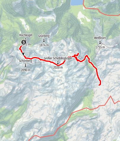 Map / Vom Hochkogelhaus durch das Feuertal zum Rinnerkogel und zur Wildenseealm