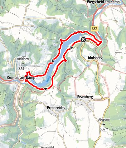 Karte / Rund um den Thurnberger Stausee