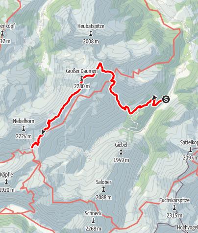 Karte / ETAPPE 1_Oberstdorf - Edmund-Probst Haus
