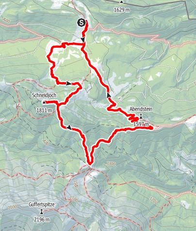 Karte / Schneidjoch und Abendstein